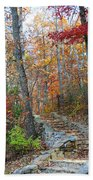 Staircase To Fall Beach Towel