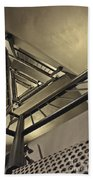 Stairing Up The Spinnaker Tower Beach Towel