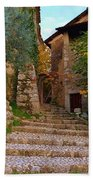 Stairs To The Village Beach Towel
