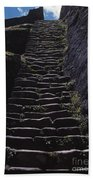 Stairway At Machu Picchu Beach Towel