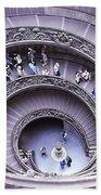 Stairway In Vatican Museum Beach Towel