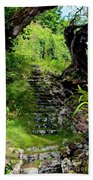 Stairway Through The Forest Beach Towel