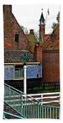 Stairway To Enkhuizen From The Dike-netherlands Beach Towel