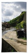 Staithes Harbour Beach Towel