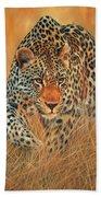 Stalking Leopard Beach Towel