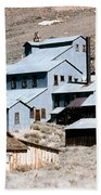 Standard Mill At Bodie Panorama Beach Towel by Barbara Snyder