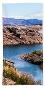 Standing In A Ravine At Lake Mead Beach Towel