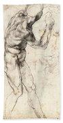 Standing Male Nude Beach Towel