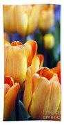 Standing Tall Tulips Beach Towel