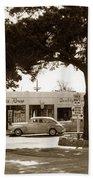 Stanifords Drug Store Ocean Ave.cor San Carlos Carmel Circa 1941 Beach Towel
