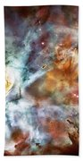 Star Birth In The Carina Nebula  Beach Towel by Jennifer Rondinelli Reilly - Fine Art Photography