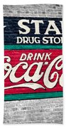 Star Drug Store Wall Sign Beach Towel