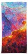 Star Dust Angel Beach Towel by Julie Turner