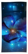 Star Light Plumeria Beach Towel