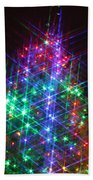 Star Like Christmas Lights Beach Towel