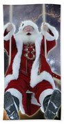 Santa's Star Swing Beach Sheet