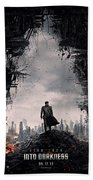 Star Trek Into Darkness  Beach Towel by Movie Poster Prints