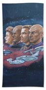 Star Trek Tribute Captains Beach Towel