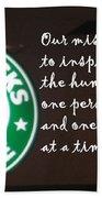 Starbucks Mission Beach Towel