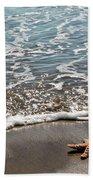 Starfish Catching The Waves Beach Towel