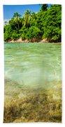 Starfish In Clear Water Beach Towel