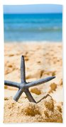 Starfish On Algarve Beach Portugal Beach Towel