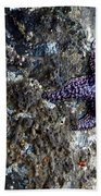 Starfish Under The Pier Beach Towel