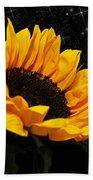Starlight Sunflower Beach Towel