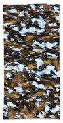 Starling Swarm Beach Towel