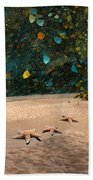 Starry Beach Night Beach Towel