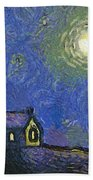 Starry Church Beach Towel by Pixel Chimp