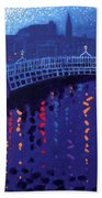 Starry Night In Dublin Beach Towel