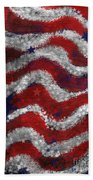 Starry Stripes Beach Towel