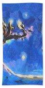 Starry Tree Beach Towel by Pixel  Chimp