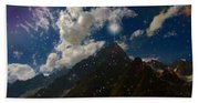 Stars And Planets On Mont Blanc Beach Towel