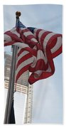 Stars And Stripes And 1 W T  C Beach Towel
