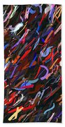 Stars In The Night Sky Abstract 3a Beach Towel