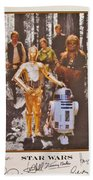 Stars Wars Autographed Movie Poster Beach Towel