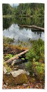 Starvation Lake Reflections Beach Towel