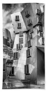 Stata Building 1 Bw Beach Towel