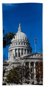 State Capitol In Madison Wi Beach Towel