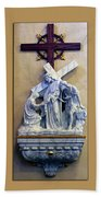 Station Of The Cross 06 Beach Towel