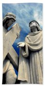 Station Of The Cross  Beach Towel
