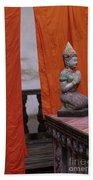 Statue At Wat Phnom Penh Cambodia Beach Towel