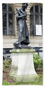 Statue In A Paris Park Beach Towel