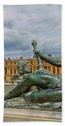 Statue In Front Of Versailles Beach Towel