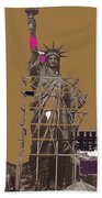 Statue Of Liberty Being Built 1876-1881 Paris Collage Pierre Petit                     Beach Towel