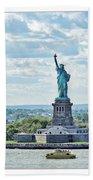Statue Of Liberty Beach Towel