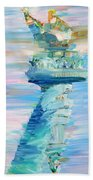 Statue Of Liberty - The Torch Beach Towel