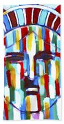 Statue Of Liberty With Colors Beach Towel